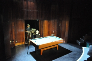 sound operator and pool table